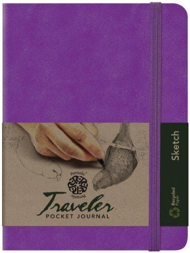 Pentalic Art Traveler Pocket Journal Sketch Book, 8