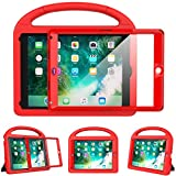 eTopxizu Kids Case for New iPad 9.7 2018/2017 with Built-in Screen Protector, Light Weight Shock Proof Handle Stand Kids Case for iPad 9.7 2017/2018 iPad Air/iPad Air 2/iPad Pro 9.7 - Red