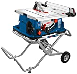 Bosch Power Tools Tablesaw 4100-10 -  15 Amp 10 In. Corded Portable Jobsite Table Saw with Gravity Rise Wheeled Stand - Ideal for Heavy Duty Cutting, Home Builders