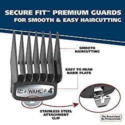 Wahl Clipper Elite Pro High Performance Haircut Kit for men, includes Electric Hair Clippers, secure fit guide combs with stainless steel clips - By The Brand used by Professionals #79602  Image 1