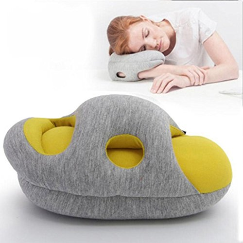 Multi-Functional Memory Pillow/Travel Pillow for Airplanes, Car, Office, Neck Support for Flying, Power Nap Pillow, Travel Accessories for Women and Men(color 4)