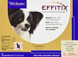 Virbac Effitix Flea/Tick Topical Solution, Extra Small Dog, 3 Count
