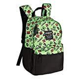 JINX Minecraft 16' Scatter Creeper Kids School Backpack, Green, N/A