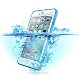 Waterproof Phone Case for iPhone 6 6s,Ultra Slim Waterproof IP68 / Clear Sound/High Sensitive Touch Screen Mobile Phone Shell for Swimming Snorkeling (Blue, 4.7')