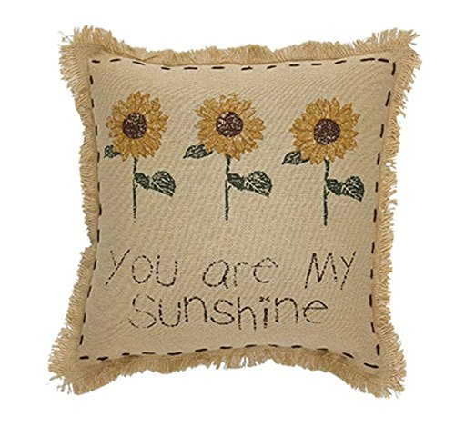 Park Designs You are My Sunshine, Sunflower Accent Pillow, 10 Inch