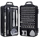 Screwdriver Set, Trekoo 110 in 1 Precision Screwdriver Repair Tool Kit Magnetic Driver Kit Professional Repair Tool Kit for iPhone X, 8, 7 / Cellphone/Computer/Tablet/PC/electronic etc (Black)