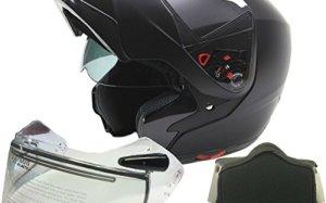 a1ccc85f Modular Dual Visor Snowmobile Helmet w/ Electric Heated Shield - Matte  Black ( Medium )