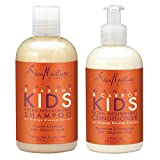 SheaMoisture Mango & Carrot KIDS, Extra-Nourishing, Shampoo and Conditioner, Orange Blossom Extract, Dry, Delicate Hair, 8 fl oz Each