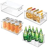"""Product review for mDesign Refrigerator and Freezer Storage Organizer Bins for Kitchen - Pack of 4, 8"""" x 6"""" x 14.5"""", Clear"""