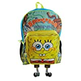 16' Large Spongebob Squarepants Backpack 3d Pocket Boys Girls School Book Bag