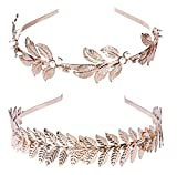 Product review for (2 Pack) Roman Goddess Leaf and Star Branch Dainty Bridal Hair Crown HeadBand