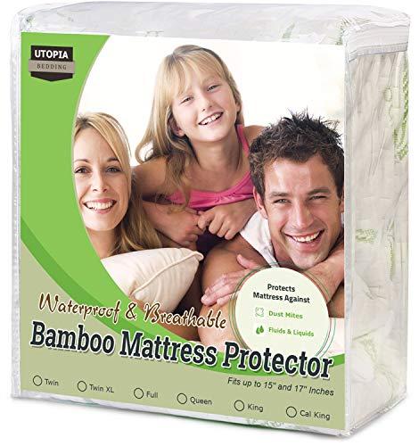 Utopia Bedding Waterproof Bamboo Mattress Protector (King)