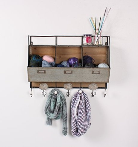 Kate-and-Laurel-Arnica-Wood-and-Metal-Wall-Storage-Pockets