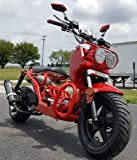 50cc Rat Rod Bike Scooter Moped Bicycle w/ Large 12' Rims - 50QT-3A - Air-cooled - 4-stroke Engine by SaferWholeSale