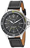 Timex Men's TW4B14900 Expedition Ranger Solar Black Leather Strap Watch