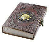 Leather Book of Shadows, Blank Grimoire Spell Book Journal with Lock, Unique Notebook Diary | A5 (6 x 8 inches)