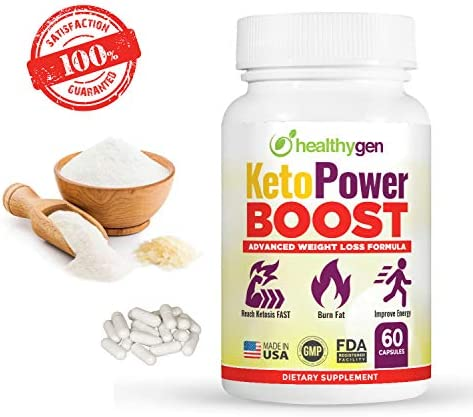 HEALTHYGEN KetoPower Boost Premium Keto Diet Pills - Boost Ketosis and Use Fat for Energy - Boost Energy & Focus, Manage Cravings, Support Metabolism - Keto BHB Supplement for Women and Men 10