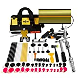 Mookis Paintless Dent Repair Tools, 77PCS Dent Removal Tools with Slider Hammer Lifter Dent Lifter, Bridge Puller Set, LED Line Board, Glue Stricks, Pro Pulling Tabs Kit