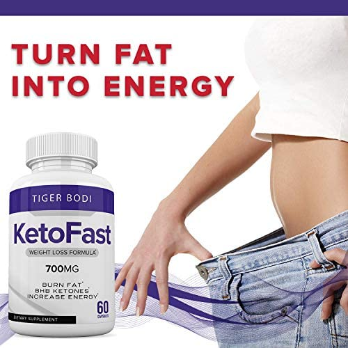 Keto Fast Diet Pills, Keto Fast Burn Weight Management Capsules 700 mg, Pure Keto Fast Supplement for Energy, Focus - BHB Ultra Boost Exogenous Ketones for Rapid Ketosis for Men Women 8