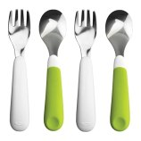 Fork and Spoon Set [Set of 2] Color: Green