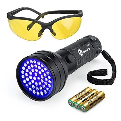 TaoTronics-Black-Light-51-LEDs-UV-Blacklight-Flashlights-Detector-for-Dry-Pets-Urine-Stains-Bed-Bug-with-Free-UV-Sunglasses-and-3-Batteries