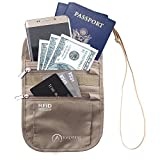 Prime Sale Day Inspiring Adventures Neck Wallet   Premium RFID Passport Holder with Water Resistant Zippers   Slim and Lightweight   Adjustable Strap   Suitable for Smart Phone and Credit Card   For M