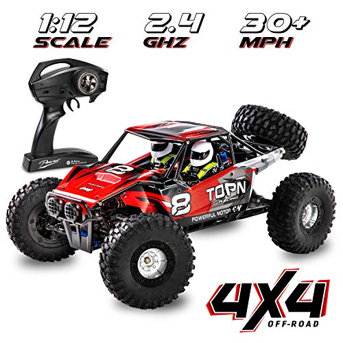 1:12 Scale Fast RC Car Off/On Road 4x4 30+ MPH (50 km/h) High Speed Vehicle 2.4GHz Radio Remote Control Buggy, Delivers Hours of Action-Packed Driving & Racing All Kinds of Extreme Terrain