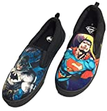 Batman vs Superman Slip-on Canvas Shoes, Black (12 (D))