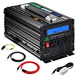 novopal 1000W Pure Sine Wave Power Inverter 3 AC Outlets DC 12V to AC 120V with Remote Control, Big LCD Display(Surge 2000W)