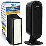 VEVA 8000 Elite Pro Series Air Purifier True HEPA Filter & 4 Premium Activated Carbon Pre Filters Removes Allergens, Smoke, Dust, Pet Dander & Odor Complete Tower Air Cleaner Home & Office, 325 Sq Ft.