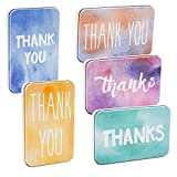 Juvale Thank You Tin Box (5 Pack) 5 x 3.7 x .7 Inches