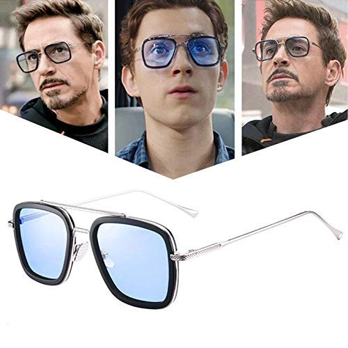 Arzonai ironman tony stark avengers metallic stylish square men's sunglasses (silver-sky blue, large)   latest news live   find the all top headlines, breaking news for free online april 8, 2021