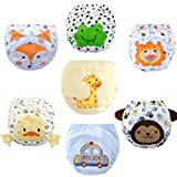 Baby Girls' Boys Toddler 7 Pack Toilet Training Pants Nappy Underwear Cloth Diaper XL