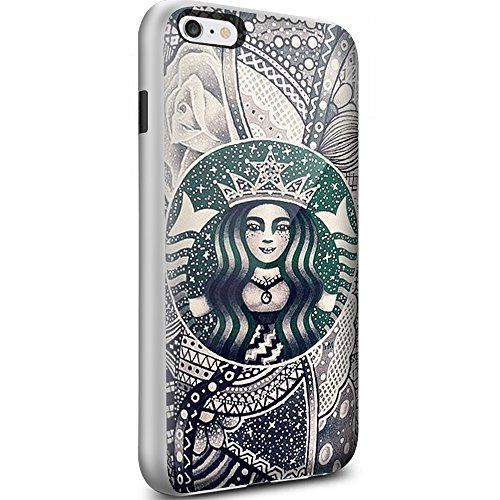 Starbucks Coffee Seatle Latte Drawing Art For Iphone 6 Plus6s Plus White