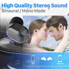Wireless-Earbuds-Bluetooth-50-Headphones-for-iPhone-Android-with-Wireless-Charging-Case-Earteana-Cordless-Earphones-with-Mic-IPX7-Waterproof-Free-to-Switch-SingleTwin-Mode-with-LED-Display