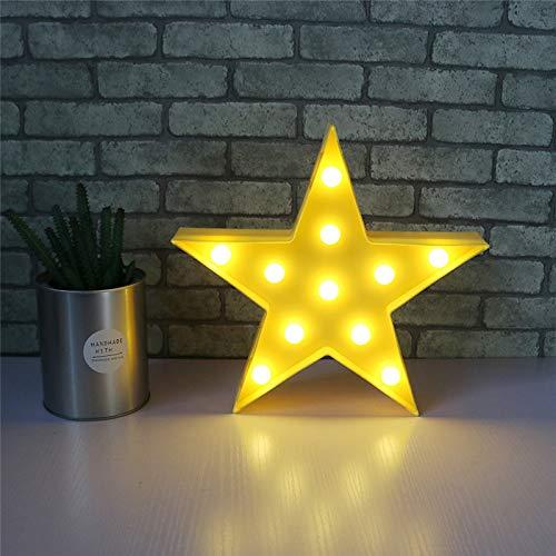 Alapaste - Lámpara LED 3D de mesa/pared, funciona con pilas, para niños, niñas, decorativa, para...