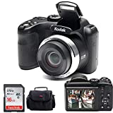 "Kodak PIXPRO AZ252 Point & Shoot Digital Camera with 3"" LCD (Black) and 16GB SD Card and Case"