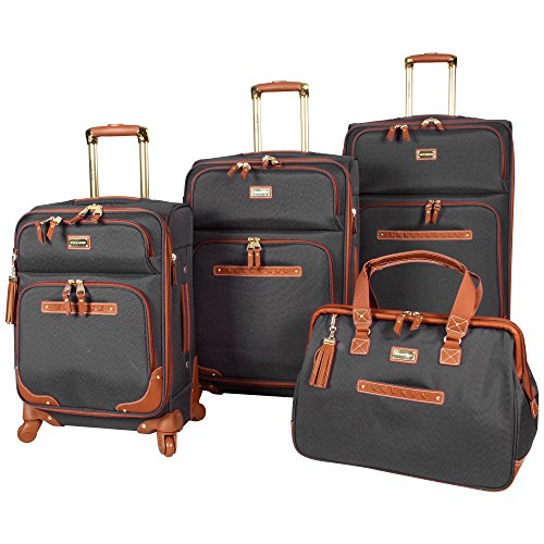 Steve Madden 4 piece Luggage With Spinner Wheels (Black)