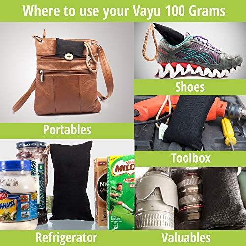 BreatheFresh Vayu Natural Air Purifying Bag, 100% Activated Charcoal. Odour, Allergens and Pollutants Remover 3
