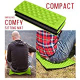 CapsA Moisture-Proof Folding EVA Foam Pads Mat Cushion Seat Camping Park Picnic Foldable 39x28x2cm Damp Proof Floor Seating Pads mat Cushion Seat Camping Park Picnic (Green)