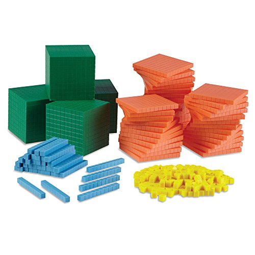 Differentiated Base Ten Blocks, Class Set of 488, Includes 4 Base Ten Place Value Mats