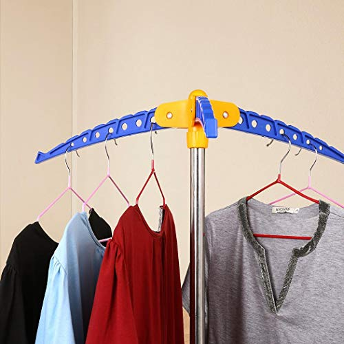 Home Garden Clotheslines Laundry Airers Tripod Clothes Laundry Drying Rack Storage Hanger Organizer Foldable Stand Bl Stbalia Ac Id