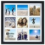Malden International Designs Smartphone Collection Black Wood Collage Picture Frame,9 Option, 9-4x4, Black