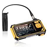 Industrial Endoscope,ROTEK 5M 1080P HD 4.3inch LCD Screen 2600mAh Battery Professional Borescope, IP67 Waterproof Inspection Camera with 6 LED Lights Digital Video Recording Handheld Endoscope(16.4ft)