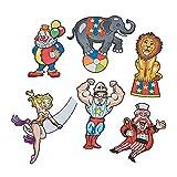 Fun Express - Carnival Cutouts for Party - Party Decor - Wall Decor - Cutouts - Party - 12 Pieces