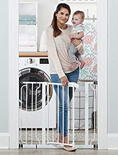 Your baby has started to walk, it's time to child proof your house. The Easy Step gate hits all the criteria with an all-steel construction, installs quickly by either pressure mount or wall mount and is adjustable to accommodate door openings betwee...