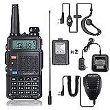 8Watt Ham Radio (UV5R 3rd Gen) 8-Watt Dual Band Two-Way Radio TD-F9GP (136-174MHz VHF & 400-520MHz UHF) High Power Walkie Talkies