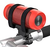 Bovon Multifunctional Bluetooth Speaker Mount for Bike, Golf Cart Railing or ATV/UTV Roll Bar, Adjustable Velcro Strap Fits Most Wireless Speakers, Flashlights, Bottle and Cage Attachment Accessory
