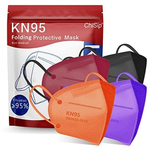 KN95 Face Mask 20Pcs, 5 Layer Design Cup Dust Safety Masks, Breathable Protection Masks Against PM2.5 Dust Bulk for… 1