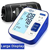 Blood Pressure Monitor, Lovia Automatic Digital Blood Pressure Monitor Upper Arm with Blood Pressure and Pulse Rate for Home Use, 2 * 120 Memory Mode, Large Backlight Display, FDA/CE Certified